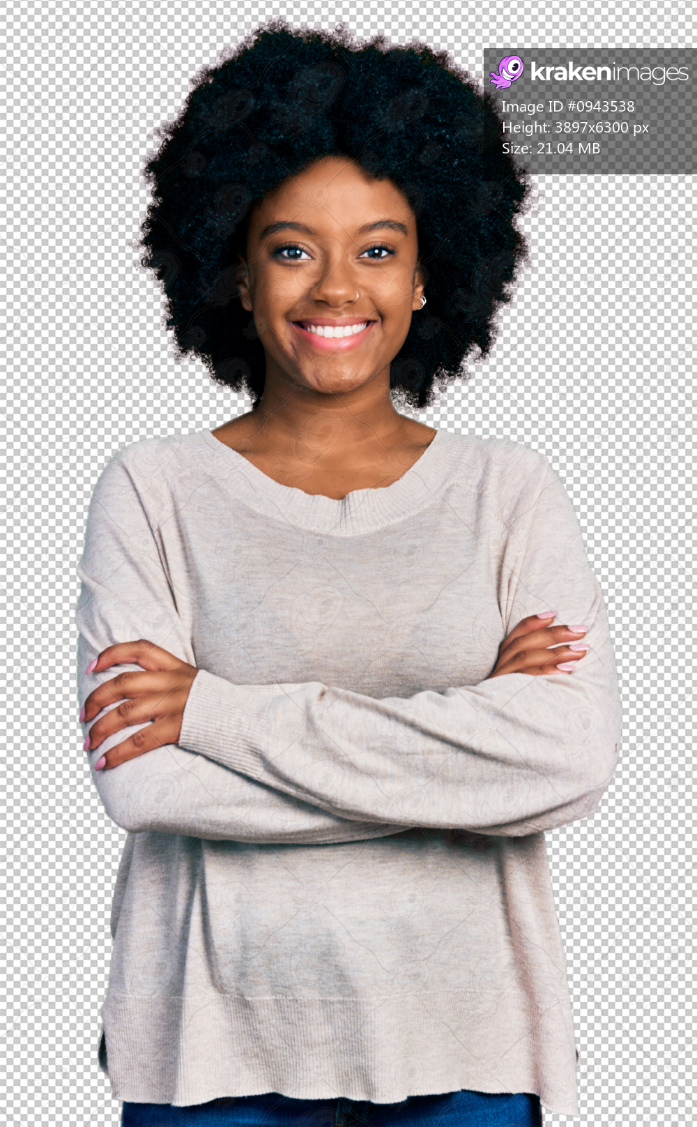 Young african american woman wearing casual clothes happy face smiling with crossed arms looking at the camera. positive person.