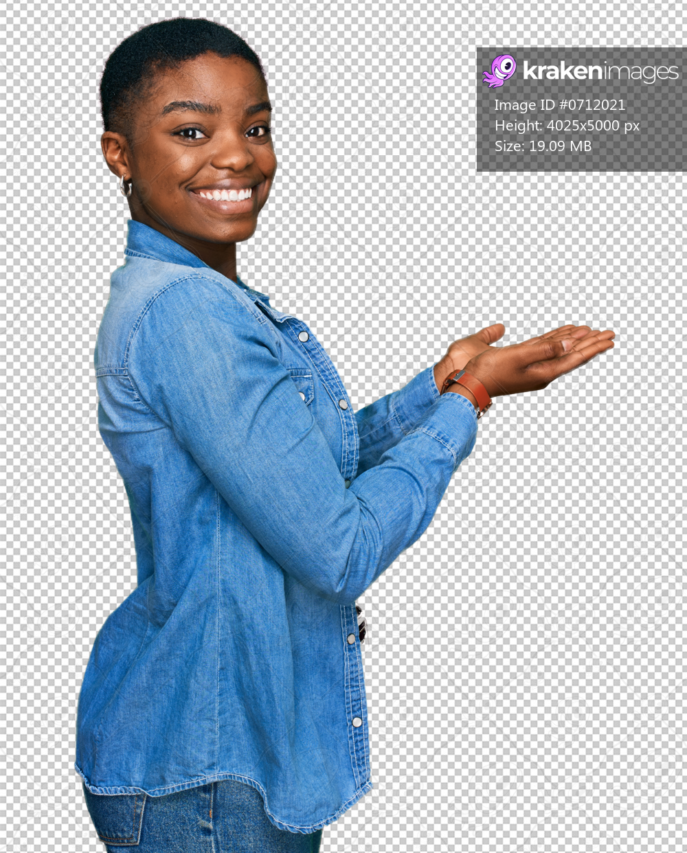Young african american woman wearing casual clothes pointing aside with hands open palms showing copy space, presenting advertisement smiling excited happy