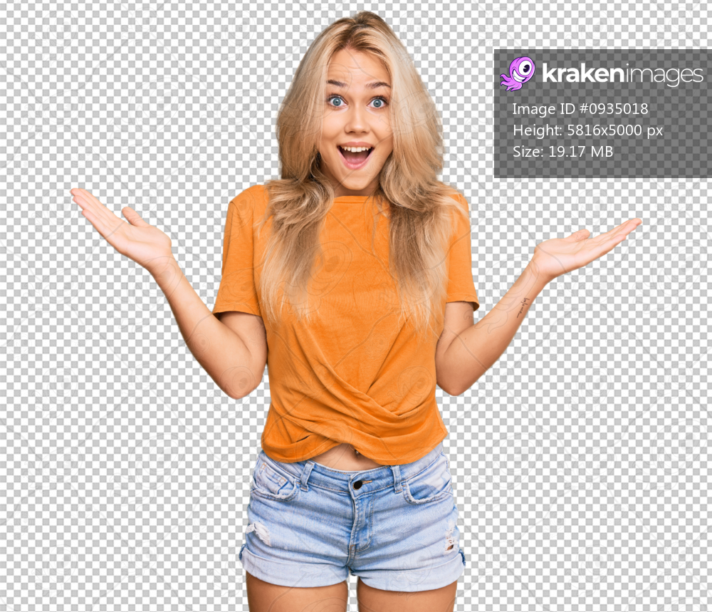 Young blonde girl wearing casual clothes celebrating victory with happy smile and winner expression with raised hands