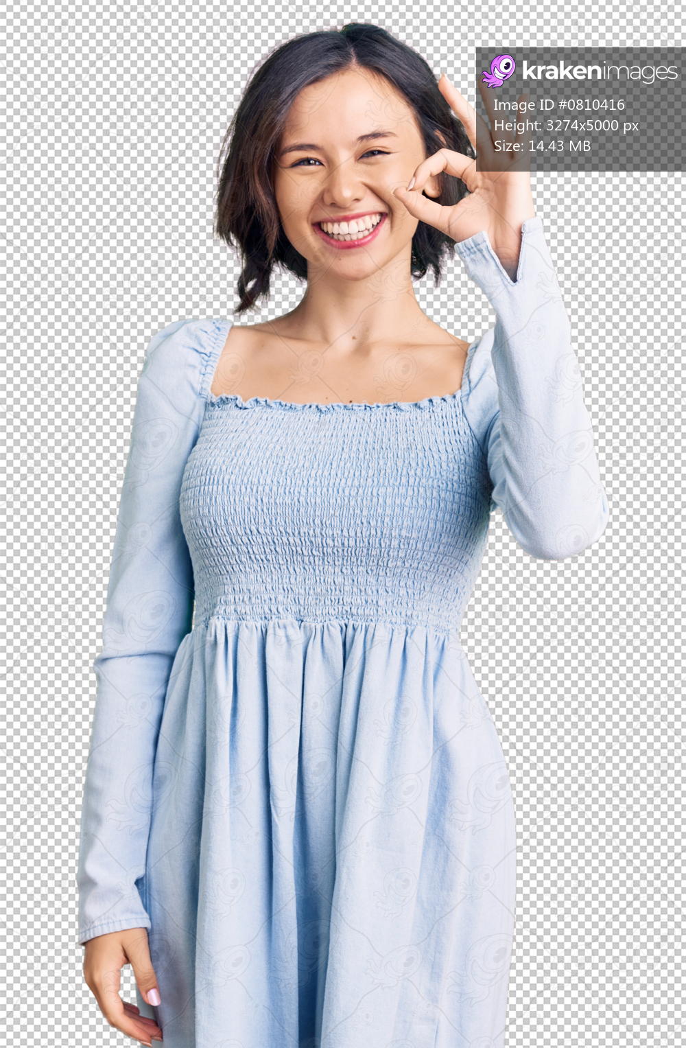Young beautiful girl wearing casual clothes smiling positive doing ok sign with hand and fingers. successful expression.
